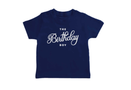 T-shirt Donker Blauw The Birthday Boy