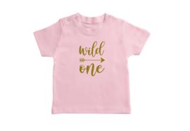 T-shirt Roze Wild One