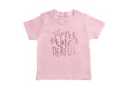 T-shirt Roze Mrs. One-derful