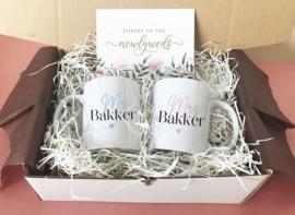 Giftbox Mr. & Mrs mokken set