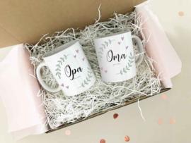 Giftbox aankondiging Opa en Oma / Oom en Tante