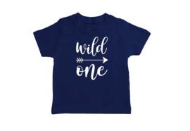 T-shirt Donker Blauw Wild One