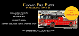 Exclusive Scale Model: Chicago Fire Truck 81 signed by Stella Kidd