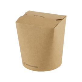 bruinkraft noodle box 480 ml/ verpakt per 50 stuks