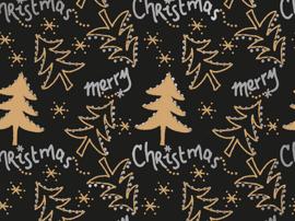 Kerst Kraft inpakpapier 30 cm breed x 100 meter lang