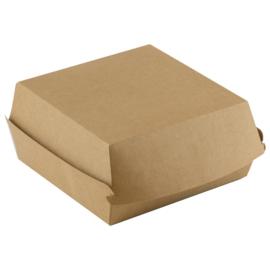 bruinkraft hamburger doos groot / verpakt per 50 stuks