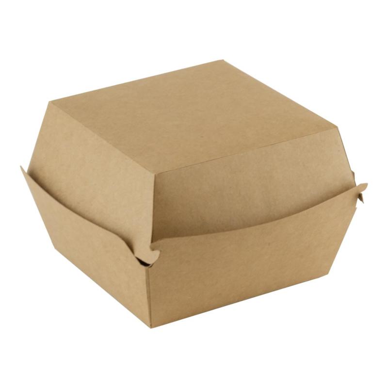 bruinkraft hamburger doos / verpakt per 100 stuks