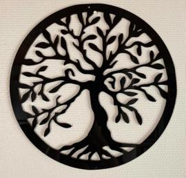 Levensboom zwart plexiglas