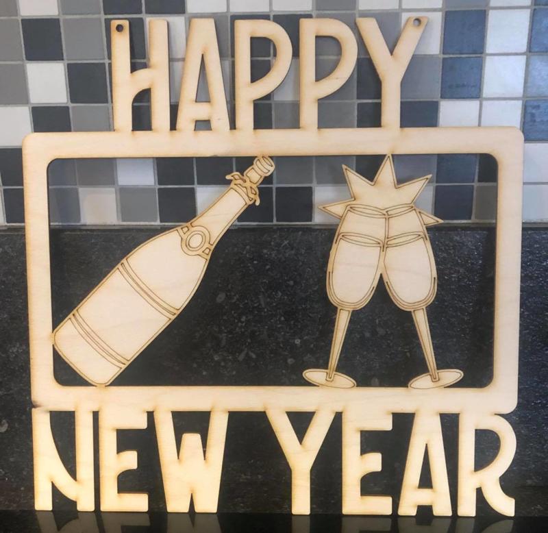 """Nieuwjaarsdecoratie  """"HAPPY NEW YEAR"""""""