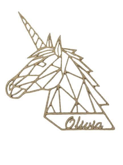 Eenhoorn , Unicorn gepersonaliseerd berken triplex