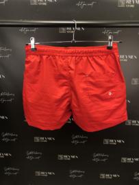 Zwembroek rood met zijzakken en achterzak ZB004