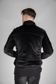 Black suede jas JS019