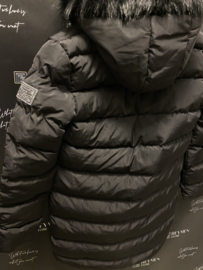 Winterjas lange model black JS005