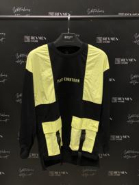 Plus eighteen sweater black yellow TR023