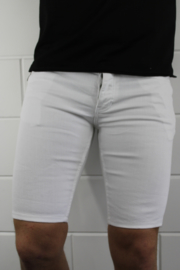 Intellegence slimfit korte spijkerbroek wit zomer outfit SJNS004