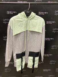 Plus eighteen sweater grey green TR024