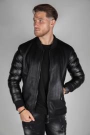 Black jacket viscose design JS009