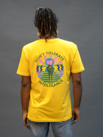 T-shirt, Don't tolerate intolerance - Yellow - xxs t/m 3xl