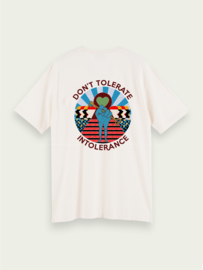 T-shirt, Don't tolerate intolerance - Off white - xs t/m xxl