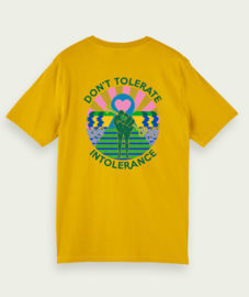 T-shirt, Don't tolerate intolerance - Yellow - xxs t/m 3xl
