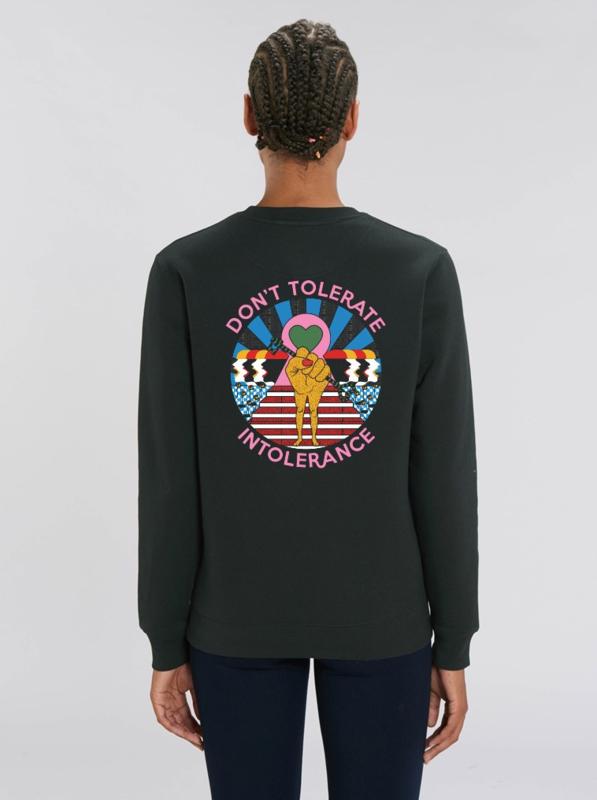 Sweater, Don't tolerate intolerance - black - xx t/m 3xl