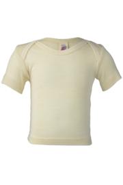 Wol/zijde babyshirt met korte mouw | Engel