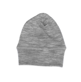 Engel Natur wol/zijde beanie grijs