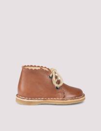 Scallop boot, cognac | Petit Nord