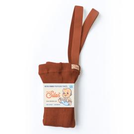Voetloze maillot met bretels, Cinnamon | Silly Silas