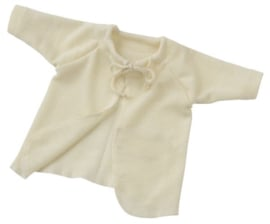 Wol/zijde wrap-over vestje | Engel