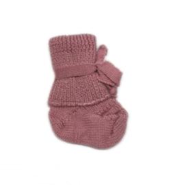 Hirsch Natur newborn sokjes, roze (0-3 maanden)