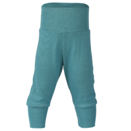 Wol/zijde baby broekje ijsblauw | Engel