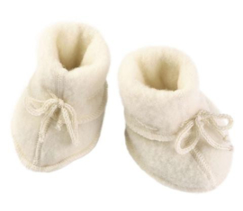 Wolfleece baby booties, naturel | Engel