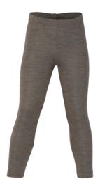 Wol/zijde kinder legging, walnut | Engel