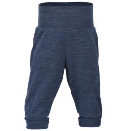 Wollen baby broekje blauw-mélange | Engel