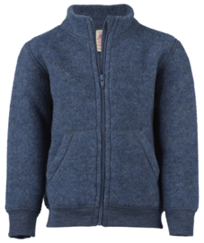 Fleece vest, blauw-melange | Engel