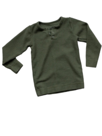 The Wafle longsleeve, Olive  | The Simple Folk