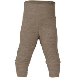 Wol/zijde baby broekje, walnoot | Engel