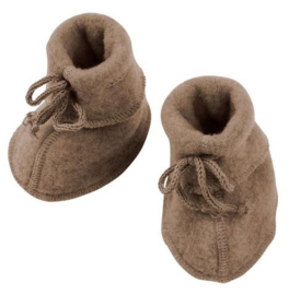 Wolfleece baby booties, walnut | Engel
