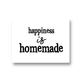 5 stickers - happiness is homemade