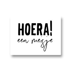 5 stickers - hoera! een meisje