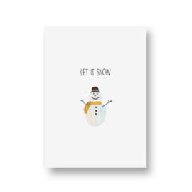 kaart van Opa Muis - sneeuwpop