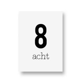 zwartwitjes - acht
