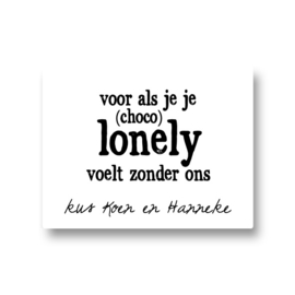 5 naamstickers - chocolonely zonder ons