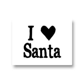 5 stickers - I love santa
