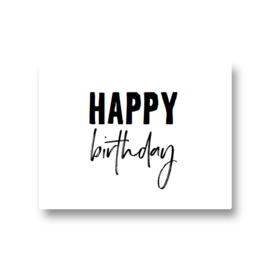 5 stickers - happy birthday