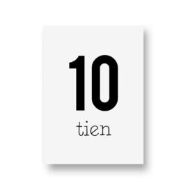 zwartwitjes - tien