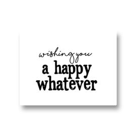 5 stickers - happy whatever