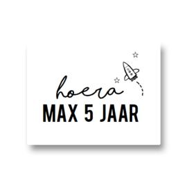 5 naamstickers - raket (max)