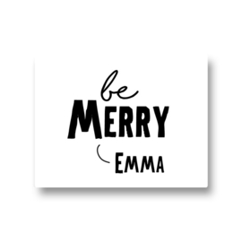5 naamstickers - be merry